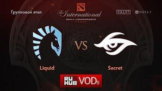 Secret vs Liquid, game 2