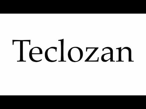 How to Pronounce Teclozan
