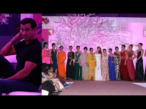 Ronit Roy & Neelam Ronit Roy At Fashion Show To Showcase Latest Go Bold Campaign And Zircon Jewelry