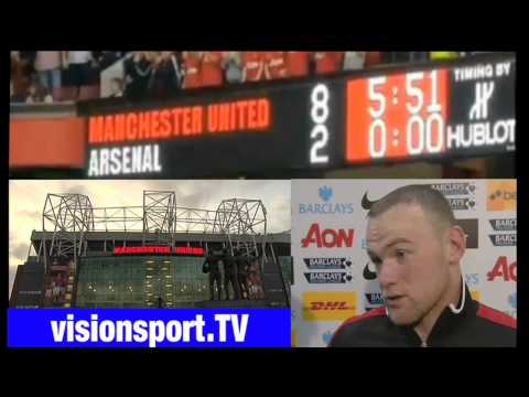Manchester United 8-2 Arsenal: Wayne Rooney Interview HD