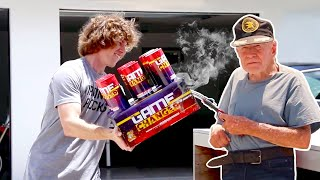 90 Year Old Lights Off Fireworks!