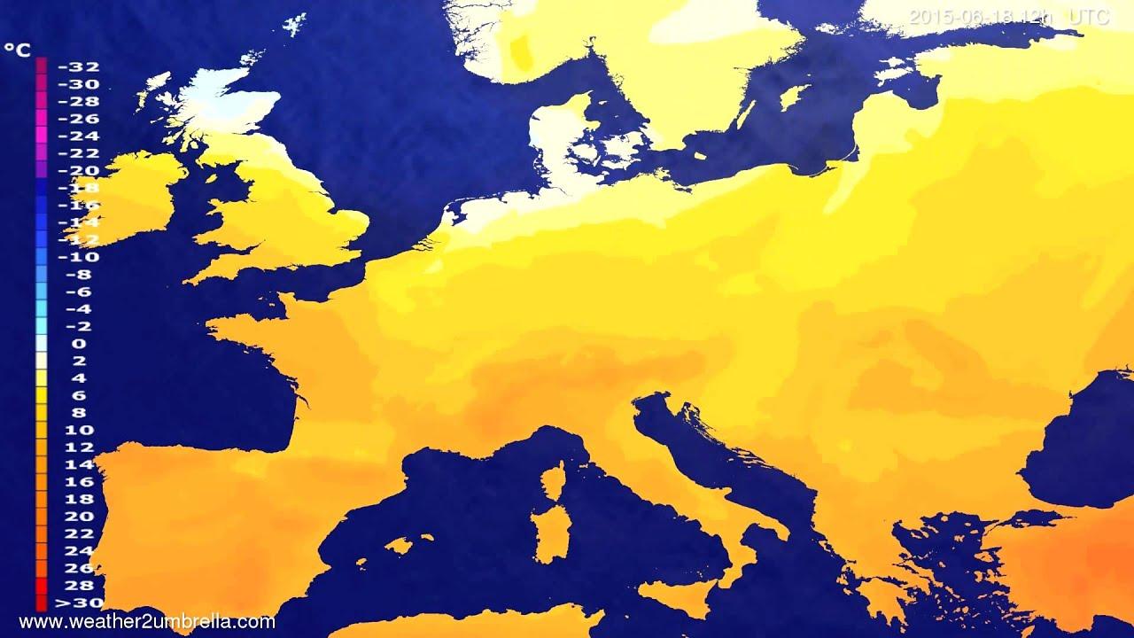 Temperature forecast Europe 2015-06-14