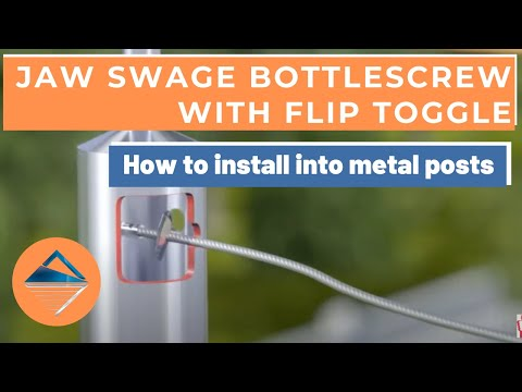 How To Install Balustrade Using Jaw Swage Bottlescrew Flip Toggle