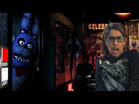 Girlfriend Plays Five Nights at Freddy's – Nights 1 + 2 – HILARIOUS SCARES!