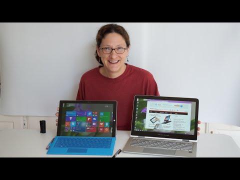 HP Spectre x360 vs.  Microsoft Surface Pro 3 Comparison Smackdown