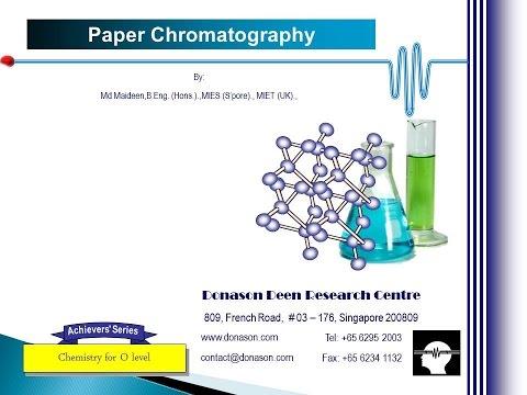 Chemistry - Paper Chromatography