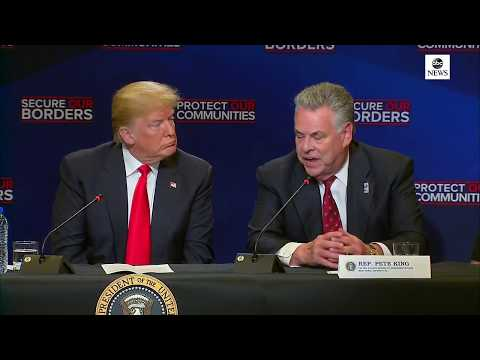 President Donald Trump participates in a roundtable on immigration | ABC News