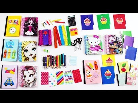 #2 Bebek Okul Malzemeler Yapımı - Monster High ve Barbie Okul Malzemeler nasıl yapılır?- Kendin Yap