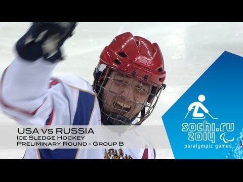 USA vs Russia highlights | Ice sledge hockey | Sochi 2014 Paralympic Winter Games