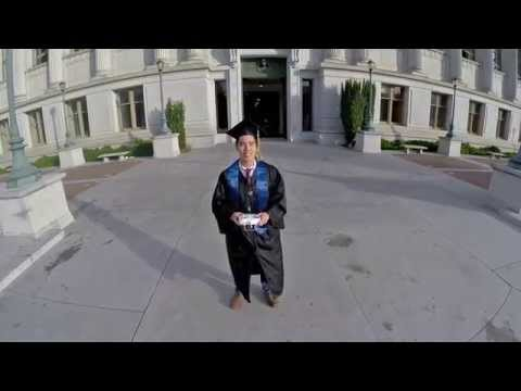 Berkeley Graduation Drone Selfie