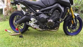 10. Yamaha FZ09 Akrapovic Full Titanium System