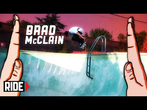 high - Watch five tricks and a high-five from your favorite skateboarders every Tuesday! This Week: Brad McClain SUBSCRIBE to RIDE: http://bit.ly/HZ9Dau Like RIDE on FACEBOOK: http://facebook.com/ridech...