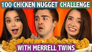100 CHICKEN NUGGET CHALLENGE (ft. Merrell Twins)   Challenge Chalice