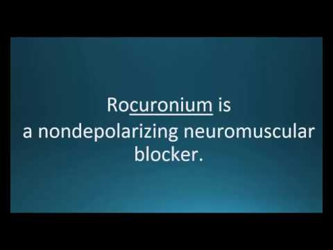How to pronounce rocuronium (Zemuron) (Memorizing Pharmacology Video Flashcard)