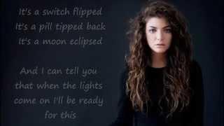 Lorde - Bravado (lyrics)
