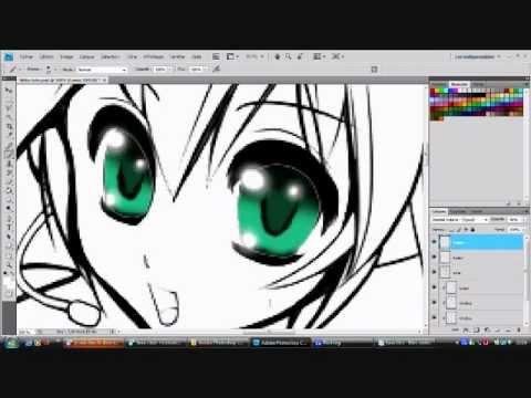 comment colorier les yeux de manga