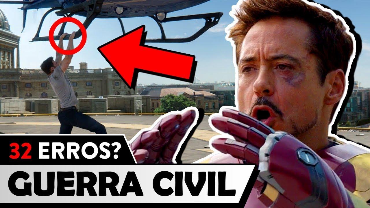 32 erros de Capitão América: Guerra Civil - Será mesmo?