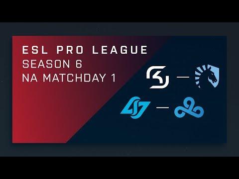 Full Broadcast - SK vs. Liquid | CLG vs. C9 - NA A Matchday 1 - ESL Pro League Season 6 [2/2] (видео)