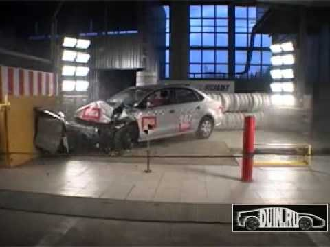 Volkswagen Polo Краш тест Volkswagen Polo Sedan