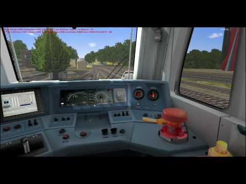 [RTrainSim] поездка на ТЭП70БС с помошником (Симулятор железной дороги)