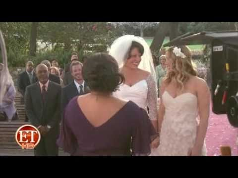 Callie & Arizona (Greys Anatomy)  White Wedding  Behind the Scenes (ET Online)