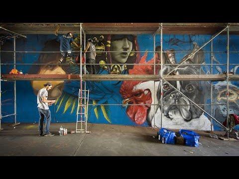 """Größtes Graffiti-Festival Europas: """"Berlin Mural Fest ..."""