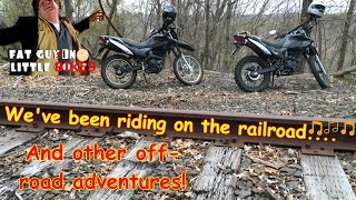 8. Hawk 250's on the RR Tracks and trails with Vee