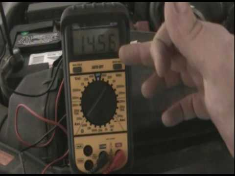 how to test alternator without voltmeter