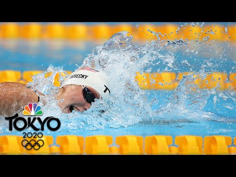 Katie Ledecky makes her Tokyo debut with win in 400m free heat | Tokyo Olympics | NBC Sports
