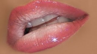 Ombre Lips Tutorial: Pink and White - YouTube