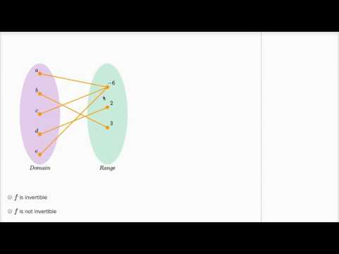 Determining if a function is invertible video khan academy ccuart Gallery