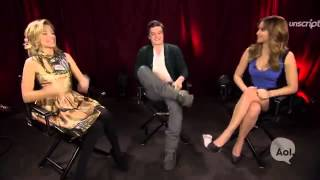 Jennifer Lawrence, Elizabeth Banks, and Josh Hutcherson @ Unscripted Interview