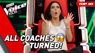 Video TOP 10 | KIDS that made all COACHES TURN in The Voice Kids MP3, 3GP, MP4, WEBM, AVI, FLV Mei 2019