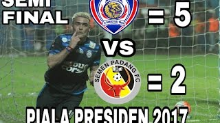 Video ALL GOALS AREMA FC VS SEMEN PADANG 5-2 (PIALA PRESIDEN 2017) SEMi FINAL 05 maret 2017 MP3, 3GP, MP4, WEBM, AVI, FLV Juli 2018