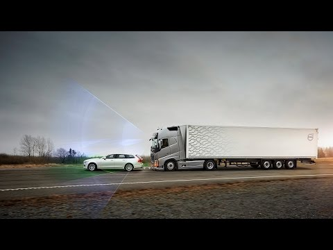 Volvo Trucks´ Collision Warning met noodremfunctie