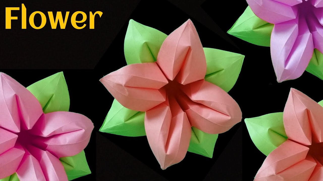 Flowers Paperfolds Origami Arts And Crafts