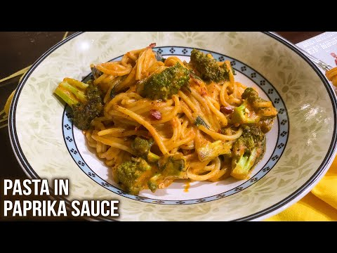 Pasta In Paprika Sauce Recipe | How to Make Spaghetti Pasta | Step By Step Pasta Recipe | Ruchi
