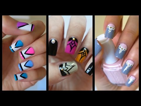Nail - Want more nail art for beginners? Check out the official playlist! http://www.youtube.com/playlist?list=PLoGiIe4TxmPR2XBcFNHpGUInxzgc2S_I0 Gold studs: http:/...