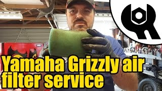 6. #1810 - Yamaha Grizzly 450 - foam air filter service