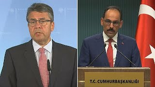 Turkey has reacted angrily to pressure from Germany to release the six human rights activists it is continuing to hold in pre-trial detention, one of them a German national.Berlin has warned there will be economic penalties and it's also issued travel warnings for tourists headed to Turkey's Mediterranean beaches.German FM says despite new policy, #Germany is still interested in #Turkey relationship...But, it takes two to tango https://t.co/JCShAqWDNR pic.twitter.com/uwulIuIpPB— DW  Politic…READ MORE : http://www.euronews.com/2017/07/20/turkey-reacts-angrily-to-german-pressureWhat are the top stories today? Click to watch: https://www.youtube.com/playlist?list=PLSyY1udCyYqBeDOz400FlseNGNqReKkFdeuronews: the most watched news channel in EuropeSubscribe! http://www.youtube.com/subscription_center?add_user=euronews euronews is available in 13 languages: https://www.youtube.com/user/euronewsnetwork/channelsIn English:Website: http://www.euronews.com/newsFacebook: https://www.facebook.com/euronewsTwitter: http://twitter.com/euronewsGoogle+: http://google.com/+euronewsVKontakte: http://vk.com/en.euronews