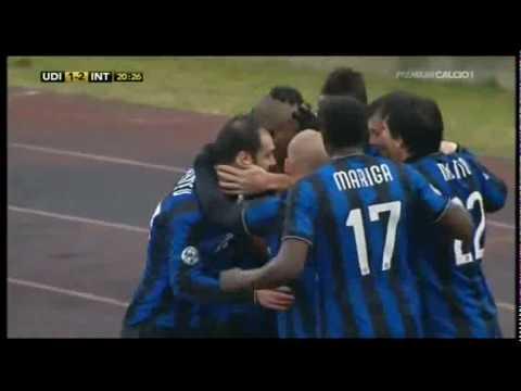 2009/2010 udinese-inter 2-3: che goal di maicon!