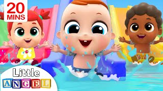 Video 5 Little Babies Playing at the Waterpark | Little Angel Nursery Rhymes MP3, 3GP, MP4, WEBM, AVI, FLV Juli 2019
