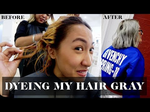 Hair salon - Dyeing My Hair Gray  Laureen Uy
