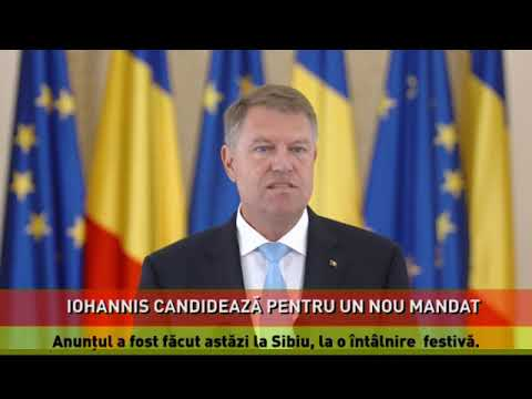 Iohannis: Sunt ferm hotărât să candidez pentru un nou mandat de preşedinte