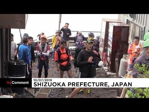 Heiliger Berg Fuji in Japan: Klettersaison wurde eröf ...