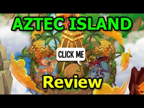 NEW AZTEC ISLAND in Dragon City Aztec Temple Quest Review