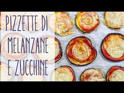pizzette di melanzane e zucchine - ricetta 100 per 100 vegan