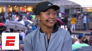 [FULL] Naomi Osaka interview after defeating Serena Williams in 2018 Grand Slam final | ESPN