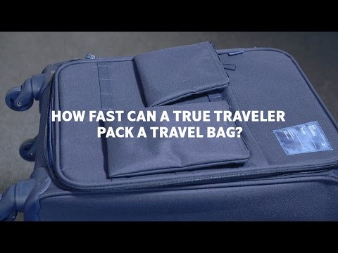 SAS How fast can a true traveler pack a travelbag
