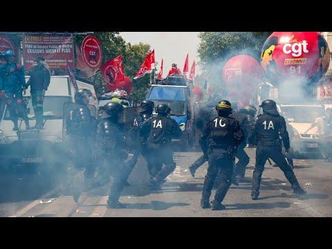 Paris: Krawalle bei Maikundgebung - Polizisten setzten  ...